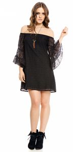 Vestido Sly Wear Renda Preto Sly Wear