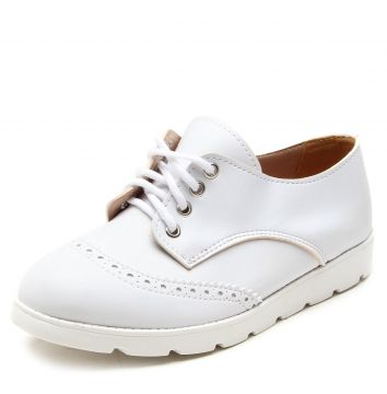 Oxford DAFITI SHOES Perfuros Branco DAFITI SHOES