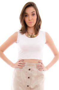 Top Maria Escandalosa Cropped Branco Maria Escandalosa