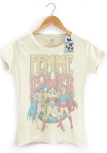 Camiseta Oficial DC Comics Power Girls Femme Power DC Comic