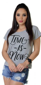 Camiseta Wevans Time Is Now Mescla Wevans