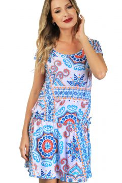 Vestido 101 Resort Wear Estampado 101 Resort Wear