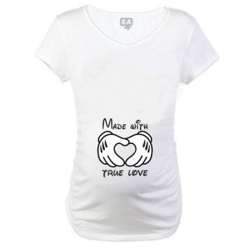 Baby Long gestante Made With True Love Branco Camiseteria S