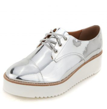Oxford DAFITI SHOES Plataforma Metal Prata DAFITI SHOES