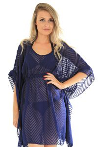 Kaftan 101 Resort Wear Maquinetado Azul 101 Resort Wear