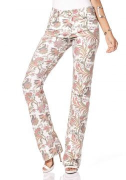 Calça Sideral Floral Rosa Sideral