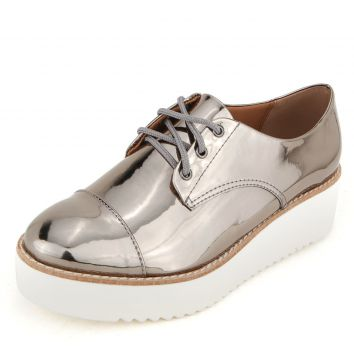 Oxford DAFITI SHOES Plataforma Metal Prata Velha DAFITI SHO
