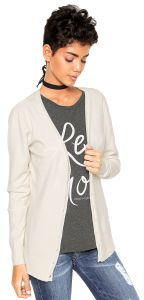 Cardigan Facinelli by MOONCITY Liso Branco Facinelli by MOO
