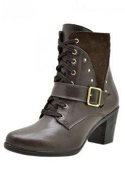 Bota Atron Shoes Ankle Boot Café Atron Shoes