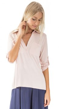 Camisa Manga Longa Lucy in The Sky Pocket Nude Lucy in The