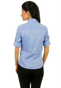 Camisa Colombo Woman Social Azul Claro Xadrez Colombo Woman
