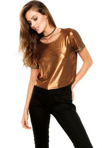 Blusa Forum Metalizada Bronze Forum