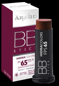 BB Stick Árago Dermocosméticos HidraColors FPS 65 - Chocola