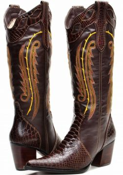 Bota Capelli Country Texana Boots Marrom Capelli