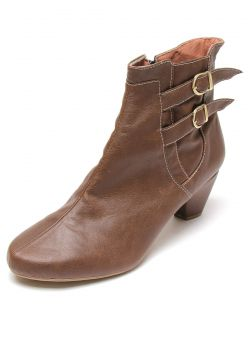 Bota DAFITI SHOES Cano Curto Marrom DAFITI SHOES
