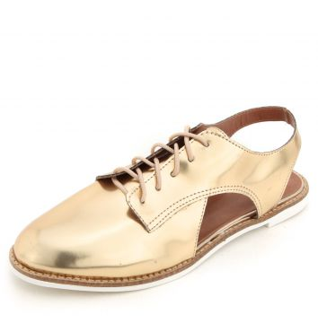 Oxford DAFITI SHOES Recortes Dourado DAFITI SHOES