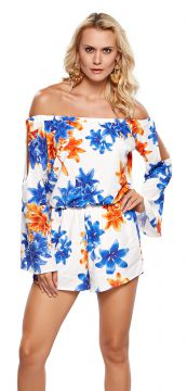 Macacão Modisch Off Shoulder Off White Modisch