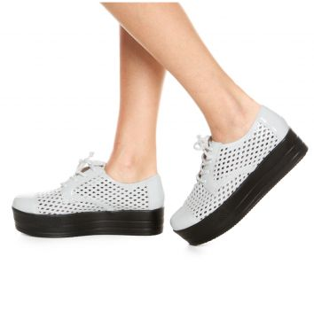 Oxford Flatform Crysalis Lasercut Verniz Branco Crysalis