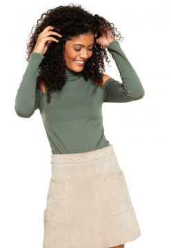Blusa Fitwell Open Shoulder Verde Fitwell