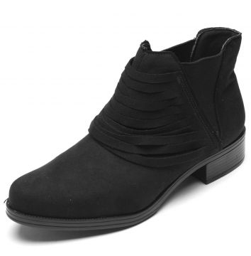 Bota DAFITI SHOES Suede Preto DAFITI SHOES