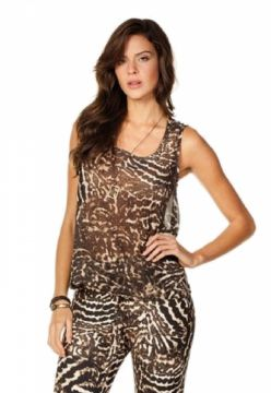 Blusa Sly Wear Animal Print Sly Wear