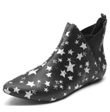 Bota DAFITI SHOES Stars Preto DAFITI SHOES