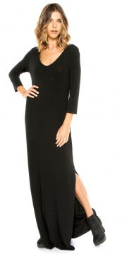 Vestido MOB Longo Weekend Dc Preto MOB