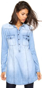 Camisa Jeans Sommer Alexia Azul Sommer