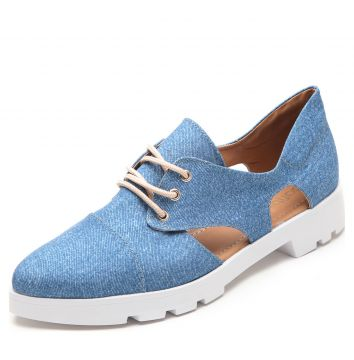 Oxford DAFITI SHOES Tratorado Vazado Azul DAFITI SHOES