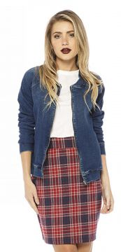 Jaqueta Sly Wear Bomber Jeans Sly Wear