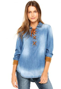 Camisa Jeans Letage Taylor Azul Letage