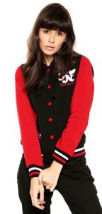 Jaqueta Bomber Red Nose Logo Preto Red Nose