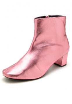 Bota DAFITI SHOES Metalizada Rosa DAFITI SHOES