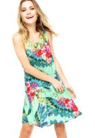 Vestido Curto Lucy in The Sky Floral Verde Lucy in The Sky