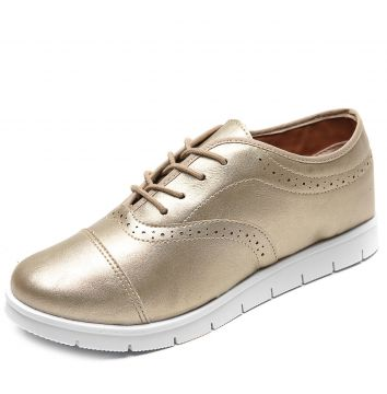 Oxford Flatform DAFITI SHOES Florão Dourado DAFITI SHOES
