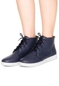 Bota Flatform DAFITI SHOES Lisa Azul DAFITI SHOES