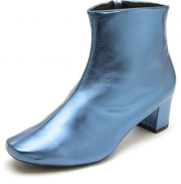 Bota DAFITI SHOES Metalizada Azul DAFITI SHOES