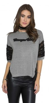 Blusa JoFashion com Paetê Mescla JoFashion
