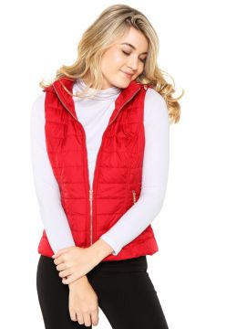 Colete Facinelli by MOONCITY Puffer Vermelha Facinelli by M