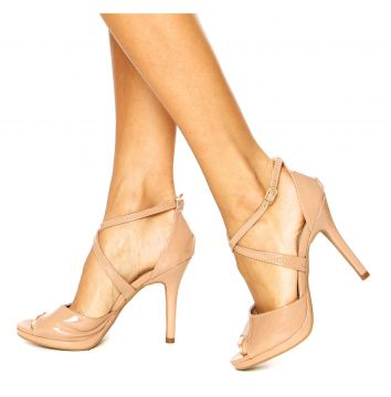 Sandália DAFITI SHOES Gladiadora Nude DAFITI SHOES