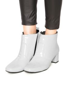 Bota DAFITI SHOES Verniz Branco DAFITI SHOES