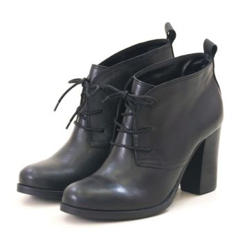 Ankle Boot Agatha Levie Salto Preto Agatha Levie