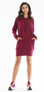 Vestido Dog Leg Maxi Moleton Bordo Dog Leg