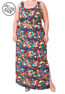 Vestido Estampado Plus Size - Confidencial Extra Multicolor