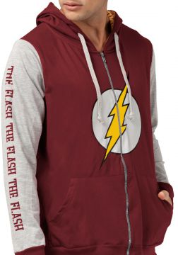 57da0ef7ba Jaqueta de moletom bandUP! Geek DC Comics The Flash Logo Vi (Roupas ...