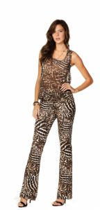 Calça Sly Wear Flare Animal Print Sly Wear