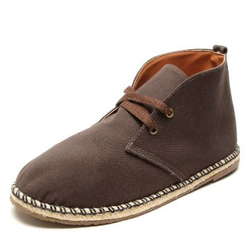 Bota DAFITI SHOES Cano Curto Espadrille Marrom DAFITI SHOES