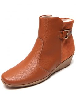Bota Piccadilly Fivela Cano Curto Caramelo Piccadilly