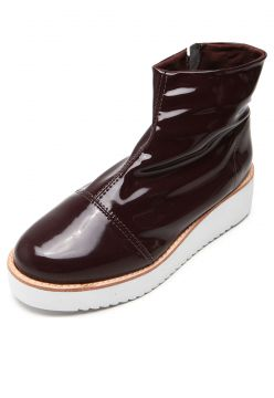 Bota Flatform DAFITI SHOES Tratorada Vinho DAFITI SHOES