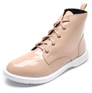 Bota DAFITI SHOES Verniz Nude DAFITI SHOES